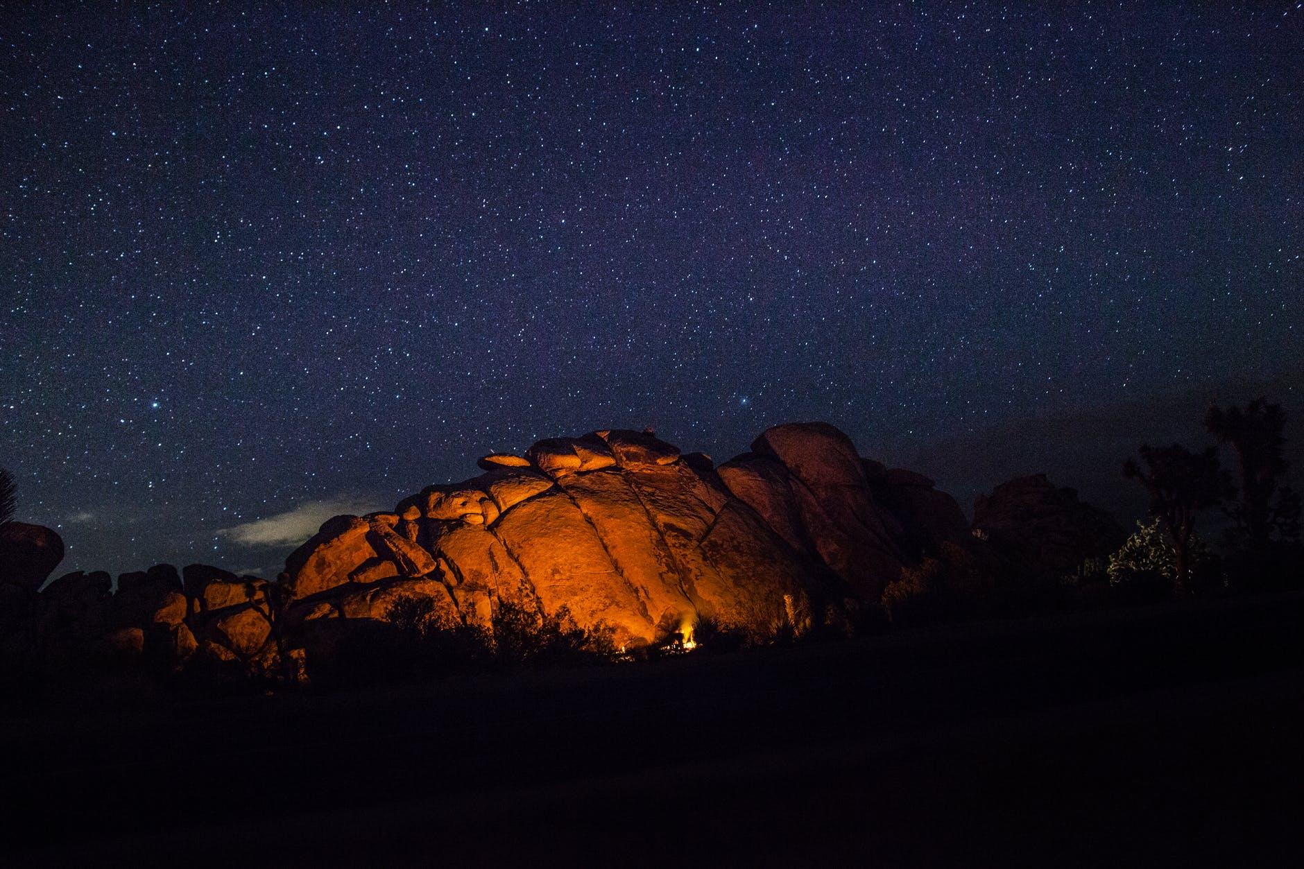 mountains nature sky night